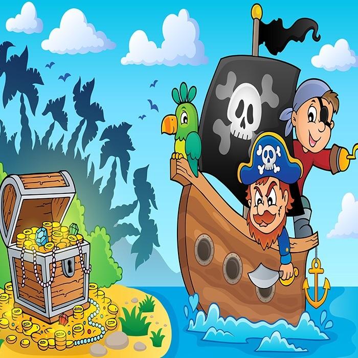 Открытки сокровища пиратов